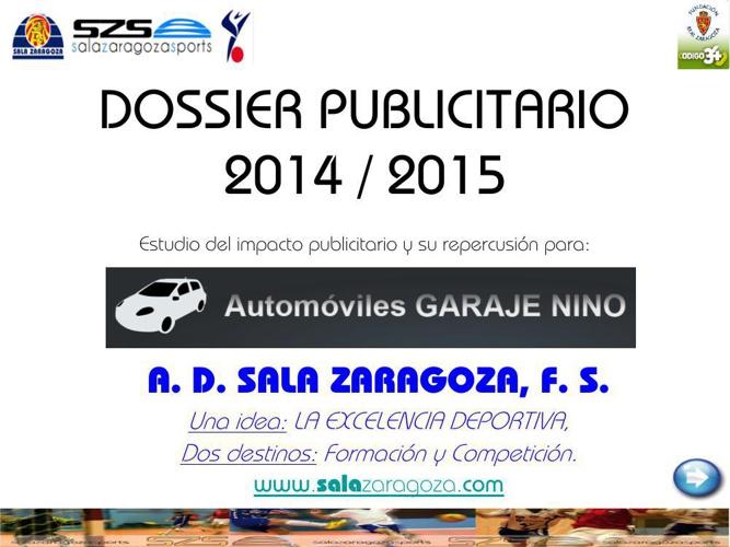 DOSSIER PUBLICITARIO 2014_15 GARAJE NINO