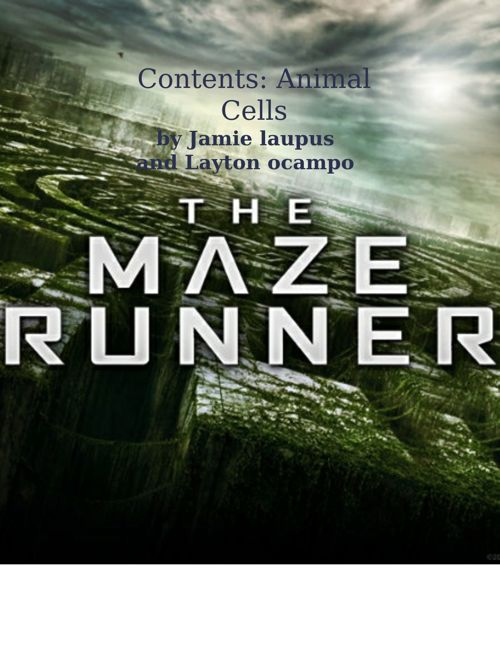 the maze runner cell anaolgy