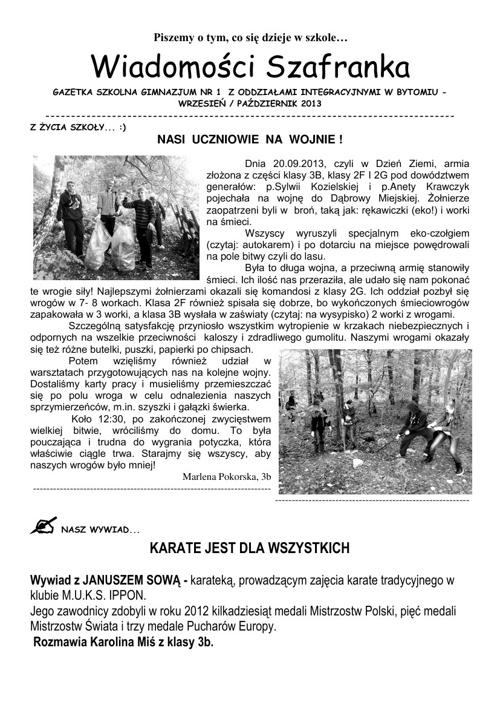 Wiadomości Szafranka 09/10/2013