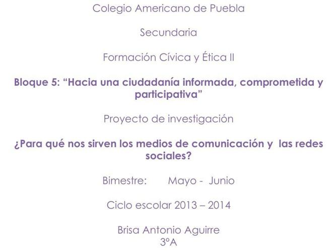 formación civica y ética