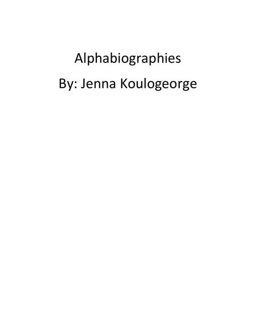 Alphabiography's