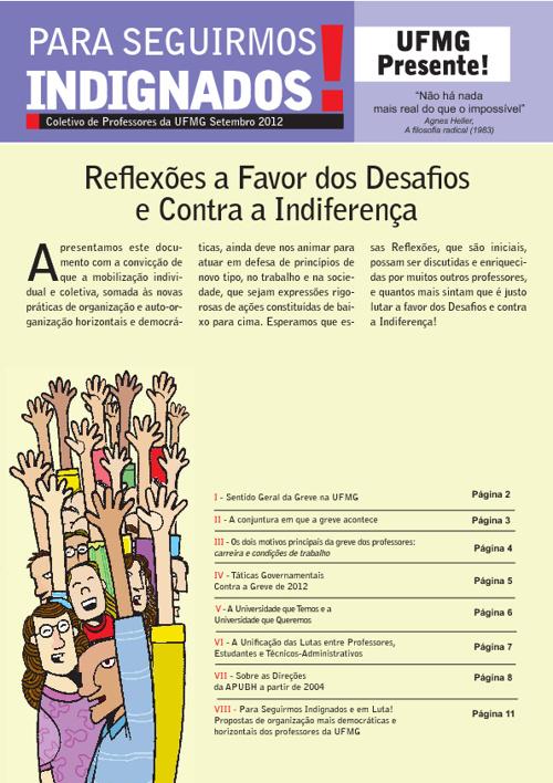 Para Seguirmos Indignados! Coletivo de Professores da UFMG 2012