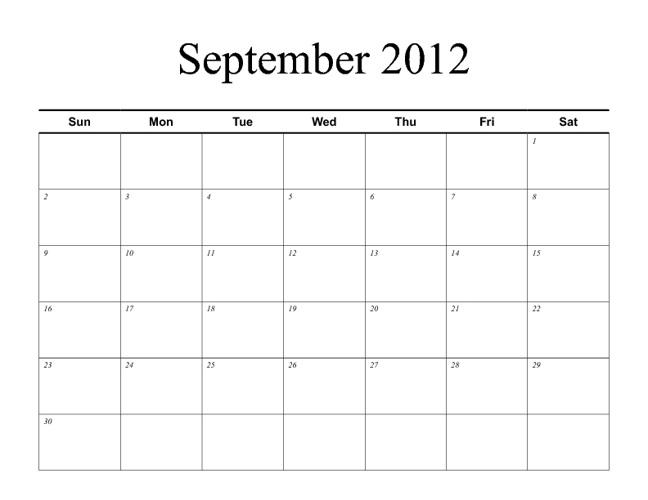 Drama Club Calendar