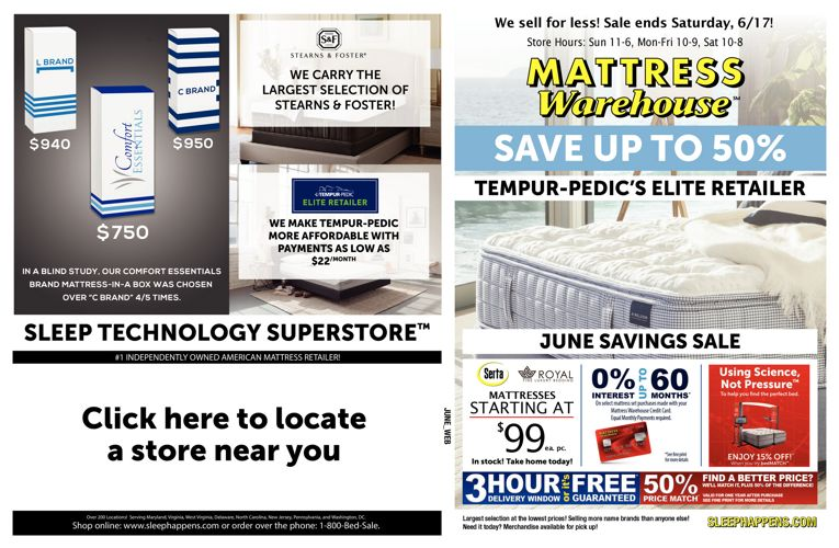 Mattress Warehouse June Savings Sale