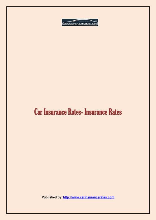 Car Insurance Rates- Insurance Rates