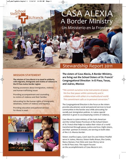 Casa Alexia Stewardship Report 2011
