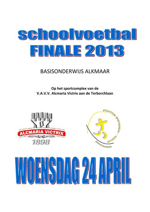 Programmaboekje Finaledag 24 april 2013