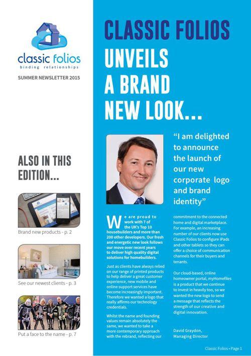 Classic Folios Summer Newsletter 2015