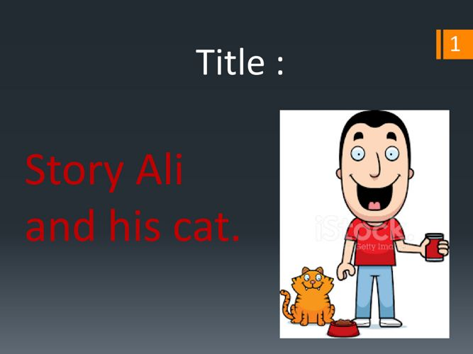 Ali and his cat.