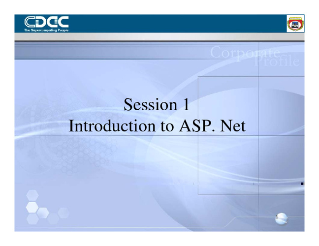 Introduction to ASP