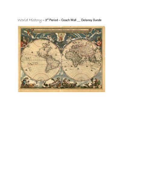 World History - 3rd Period - Coach Wall