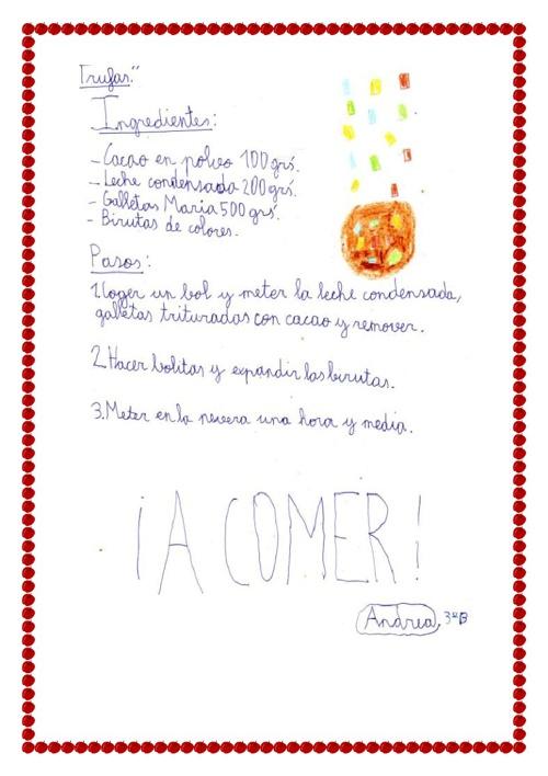 Copy of Recetario 3º B