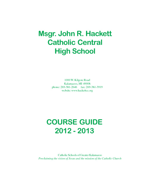 2012-13 Course Guide