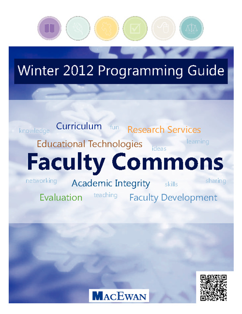 Faculty Commons Winter 2012 Programming Guide