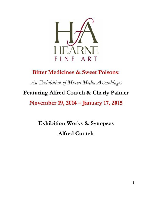 Alfred Conteh Works & Synopses - Bitter Medicines & Sweet Poison