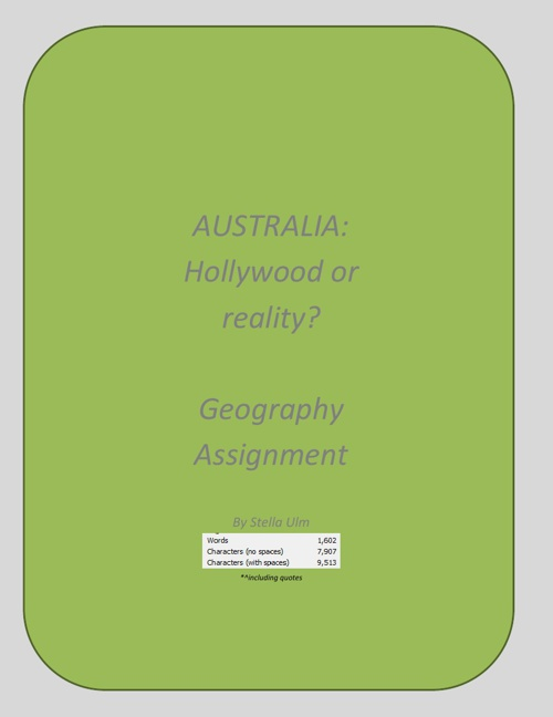 Geography Australian Assignment