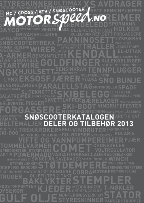 Motorspeed Snøscooterkatalogen - 2013