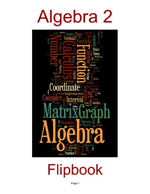 Algebra 2 Flipbook