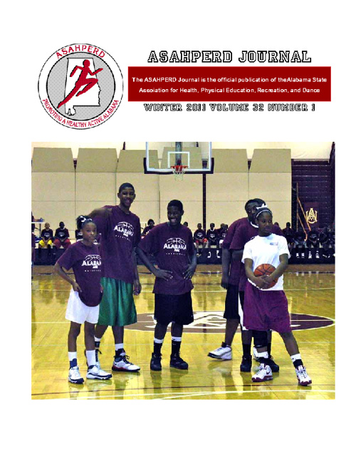 ASAHPERD Journal - Winter 2012