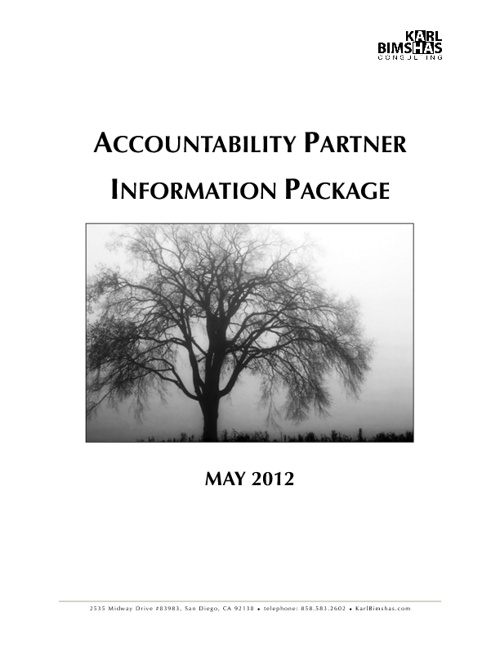 Accountability Partner Information Package - May 2012