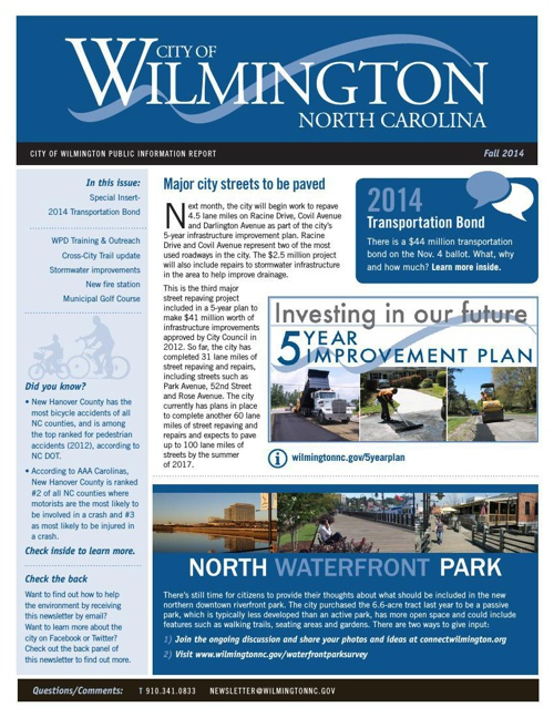 City of Wilmington - Fall 2014 Newsletter