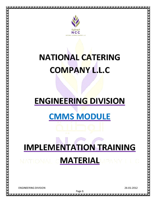 CMMS Training Material