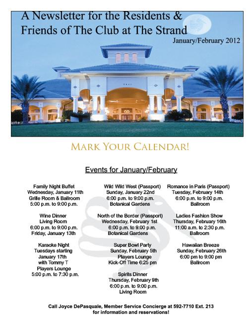 Jan/Feb Newsletter