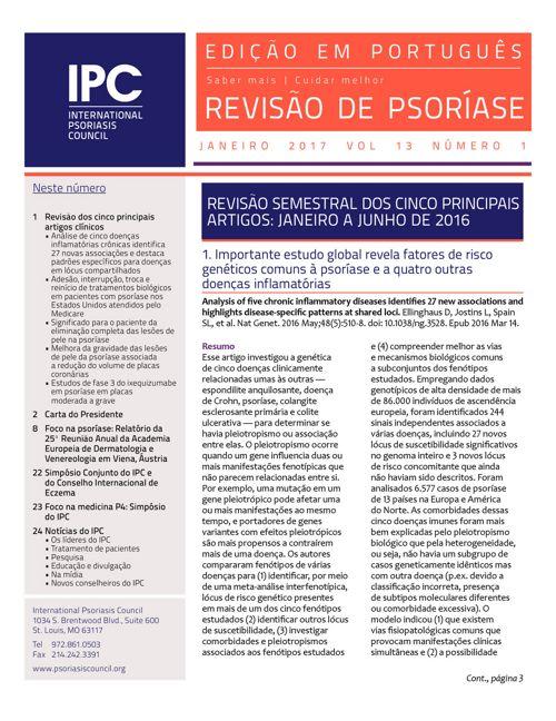 Revisão de Psoríase do IPC - Janeiro 2017
