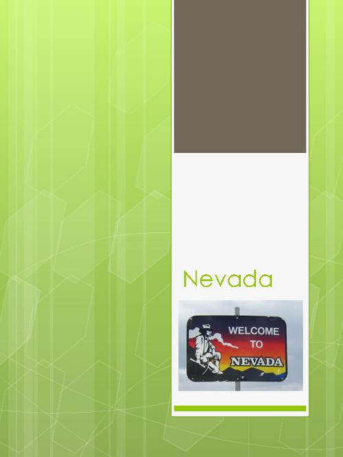 Holiday Destination: Nevada