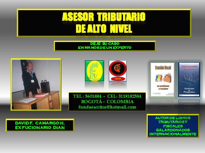 ASESOR TRIBUTARIO Y CONSULTOR PARA EMPRESAS