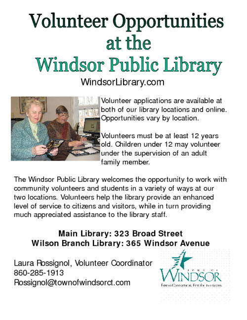 Be a library volunteer!