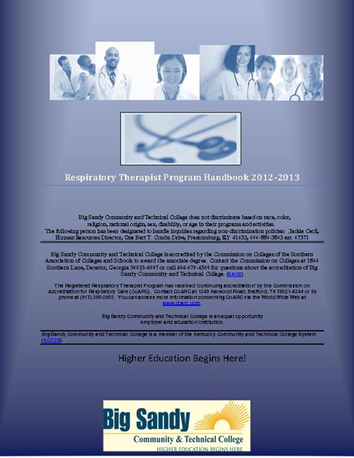 Advanced-Practice Respiratory Therapist Program Handbook 12-13