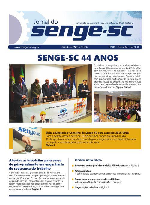 Senge-SC Jornal n 69 - Setembro 2015