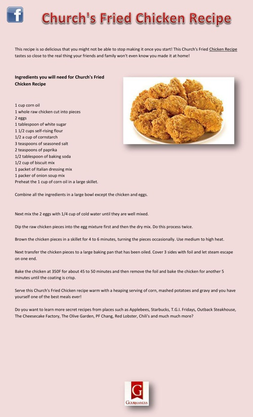 Church's Fried Chicken Recipe