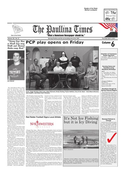 The Paullina Times, April 3, 2014