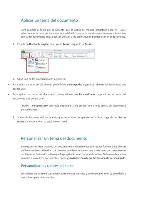 Aplicar un tema del documento