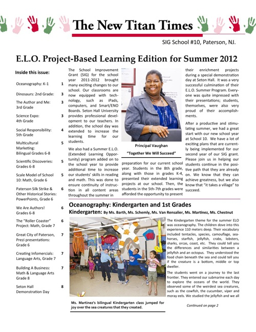 School #10 Newsletter