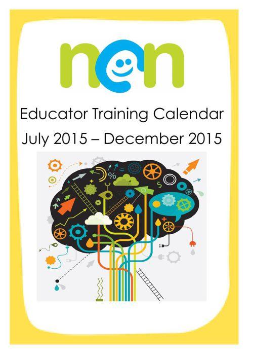 NCN Training Calendar July - December 2015