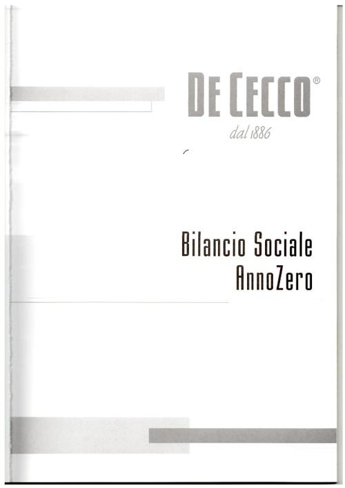 """Bilancio sociale """"De Cecco"""""""