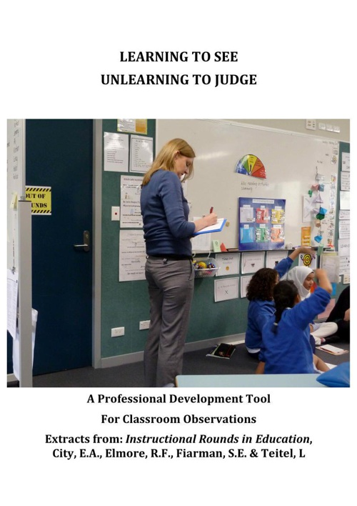 Learning To See: Unlearning to Judge