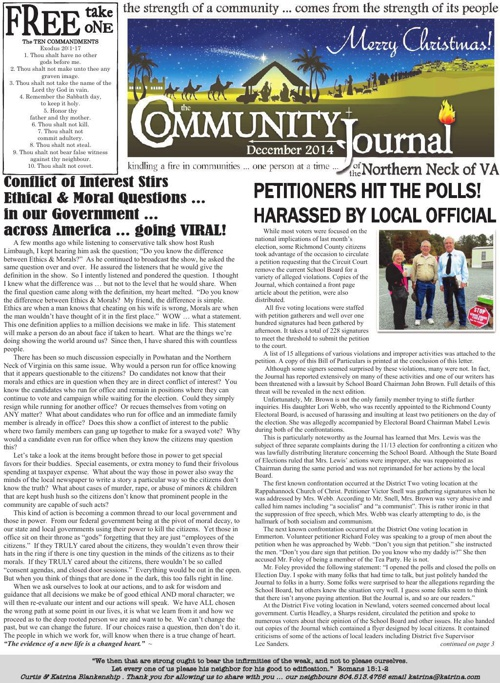 The Community Journal of the Northern Neck of Virginia