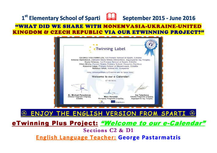 eTwinning benefits in ENGLISH from Sparti