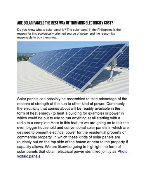 Solar Energy Philippines