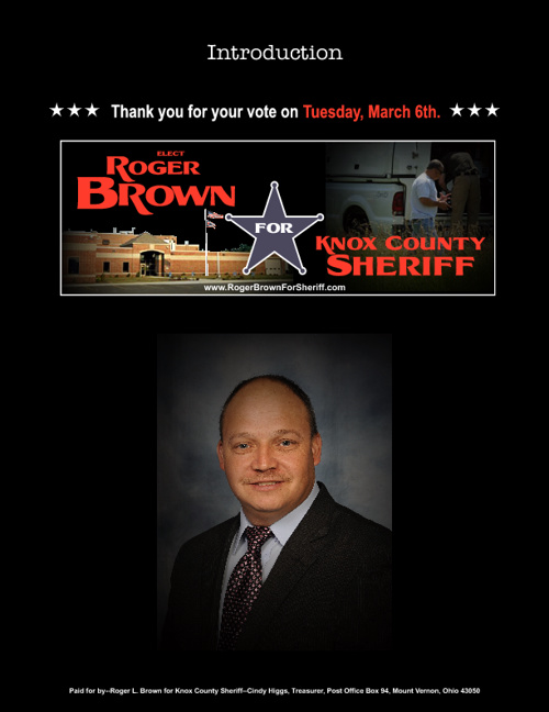 Roger L. Brown for Knox County Sheriff