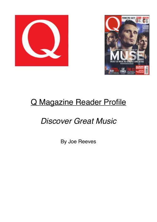 Q Magazine Reader Profile