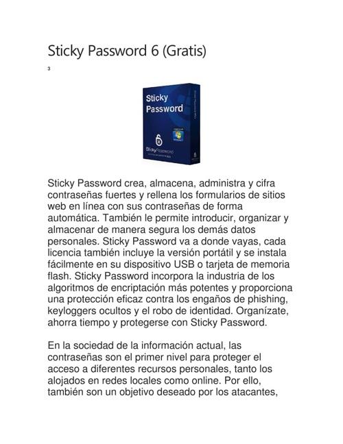 Sticky Password 6 (Gratis)