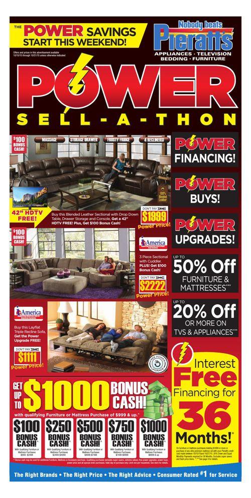 The Power Savings are at Pieratt's!