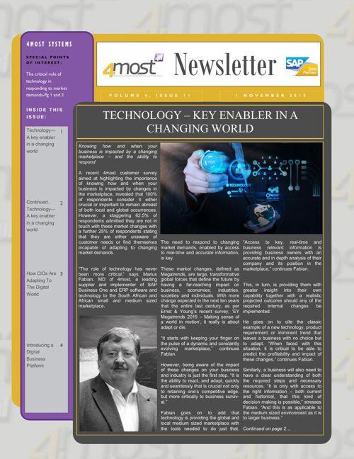4most November 2015 Newsletter