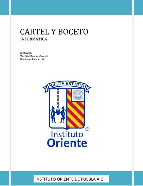 CARTEL Y BOCETO