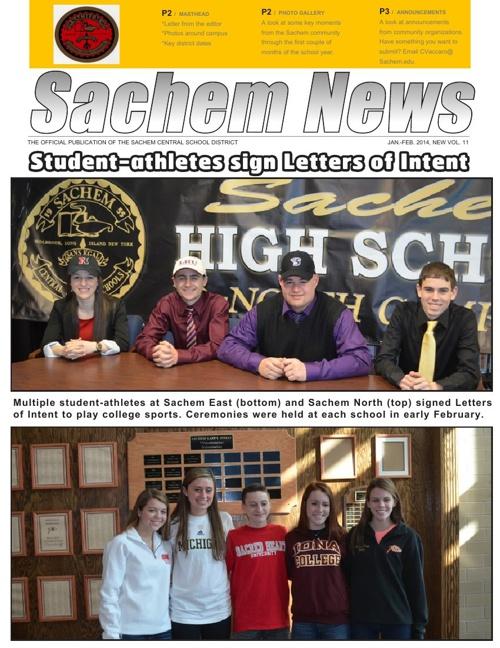 Sachem News Feb. 2014